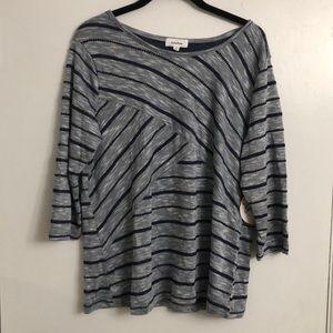 Soleillee 1/4 Sleeve Top | M